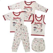 ست لباس نوزادي ندا و ساراگل مدل 1-3447