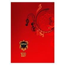 دفتر افرا 100 برگ کاور دار طرح 13