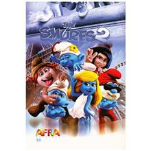 Afra 50 Sheets The Smurfs 2.2 Design Soft Cover Notebook