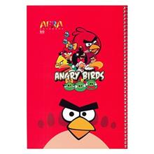 Afra Angry Birds2 50 Sheets Coiled Notebook Pack Of 5