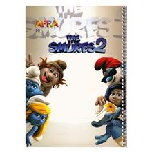 Afra The Smurfs2.1 50 Sheets Coiled Notebook Pack Of 5