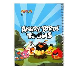 Afra Angry Birds1 80 Sheets Coiled Notebook Pack Of 2
