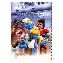 Afra the Smurfs2.2 80 Sheets Coiled Notebook