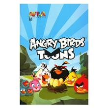 Afra 50 Sheets Painting Angry Birds1 Soft Cover Notebook - Pack Of 5