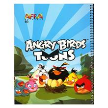 Afra Angry Birds1 50 Sheets Coiled Drawing Notebook Pack Of 5