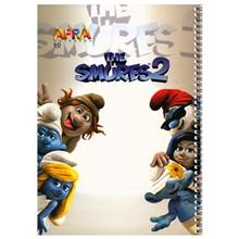 Afra 50 Sheets Painting The Smurfs 2.1 Design Soft Cover Notebook