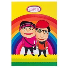 دفتر مشق آزاده سری کلاه قرمزی طرح کلاه قرمزی و پسرخاله با زمینه زرد 50 برگ