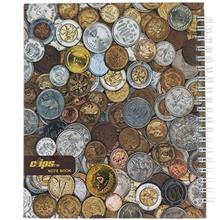 Clips 100 Sheets Coins Design Hard Cover