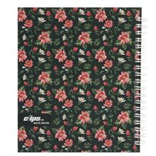 Clips 100 Sheets Flower 2 Design Hard Cover