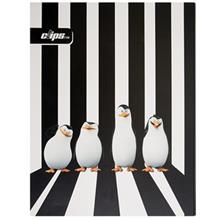 Clips Penguins of Madagascar Design 100 Sheets Ring Binder Notebook