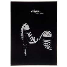Clips 100 Sheets Soft Cover All Star Design Notebook