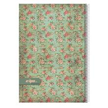 Clips 80 Sheets Flower Design 1 Soft Cover Notebook