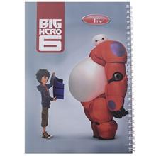 دفتر 80 برگ کلیپس طرح قهرمان بزرگ 6 جلد شومیز