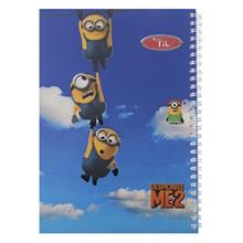 Clips 80 Sheets Minion 2 Design Soft Cover Notebook