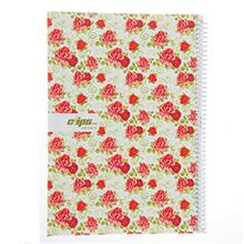 Clips 80 Sheets Rose Design Soft Cover Notebook