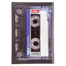 Clips 80 Sheets Casette Design Soft Cover Notebook