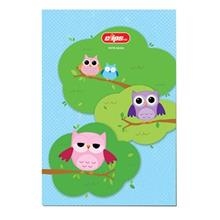 Clips 80 Sheets Owls 2 Design Soft Cover Notebook