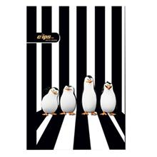 Clips 80 Sheets Traditional Penguin Design Soft Cover Notebook