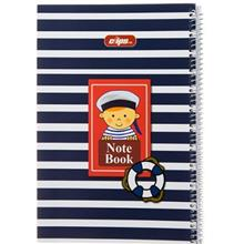 Clips 80 Sheets Sailor Design Soft Cover Notebook