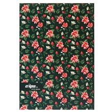Clips 80 Sheets Flower Design 2 Soft Cover Notebook