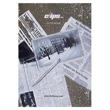 Clips 50 Sheets Traditional Newspaper Design Soft Cover English Notebook