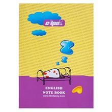 دفتر زبان کلیپس طرح رویای الفبا 80 برگ
