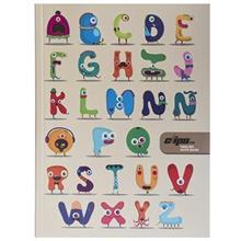 دفتر زبان کليپس طرح الفباي حيوانات 80 برگ