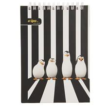 Clips The Pinguins of Madagascar Design 100 Sheets Notebook