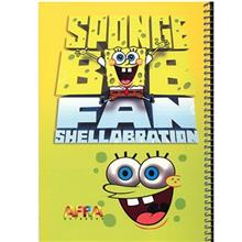 Afra 50 Sheets Sponge Bob1 Design soft Cover Notebook
