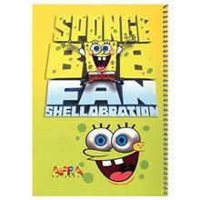 دفتر سیمی نقاشی افرا 50 برگ طرح باب اسفنجی 1- بسته 5 تایی