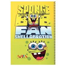 Afra 50 Sheets Painting Sponge Bob1 Design Soft Cover Notebook