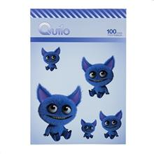 Quilo Cute Blue Monster Homework Notebook 100 Sheets