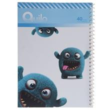 Quilo Cute Furry Monster Homework Notebook 40 Sheets