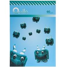 Quilo Cute Horned Monster Homework Notebook 60 Sheets
