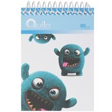 Quilo Cute Furry Monster Notebook 80 Sheets