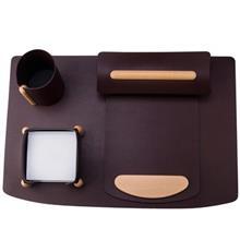 مجموعه لوازم اداری رومیزی 5 تکه چرم بستار مدل Vogue کد 5019