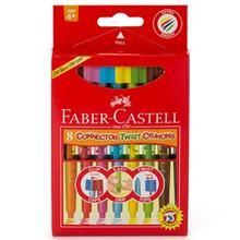 مداد شمعي 8 رنگ فابر کاستل مدل Connector Twist