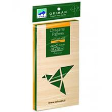 بسته کاغذ اوريگامي اوريمان مدل سبز ساده