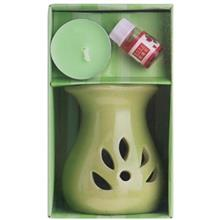 Oil Burner with  Warmer Rose Aroma Pack