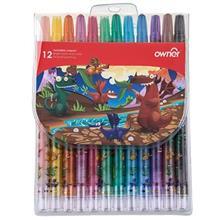 مداد شمعي اونر مدل پيچي - بسته 12 رنگ