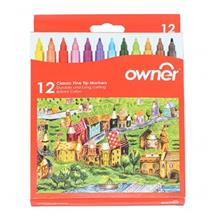 Owner Classic Fine Tip 12 Colors Markers