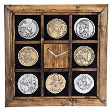 ساعت دیواری گالری آسوریک طرح سکه