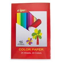 کاغذ رنگي  کليپس - بسته 24 رنگ