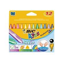 مداد شمعي 12 رنگ بيک سري کيدز پلاستي دکور تراي انگل