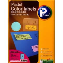 Printec A0010 Pastel Color Labels