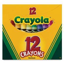 مداد شمعی 12 رنگ کرایولا مدل 12Crayons کد 0012