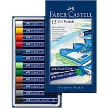 پاستل روغني 12 رنگ فابر کاستل سري Creative Studio مدل Studio Quality