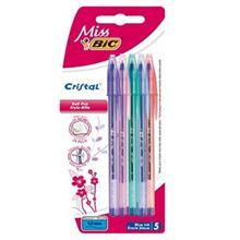 خودکار آبی بیک کریستال  - بسته 5 تایی