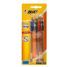 خودکار بیک کریستال گریپ (آبی-مشکی-قرمز-سبز)