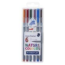 روان نويس 6 رنگ استدلر مدل Triplus Nature Colors